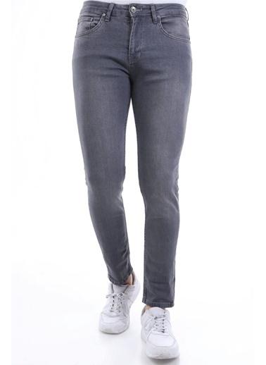 Rodi Jeans Taşlamalı Erkek Denim Pantolon  Gri